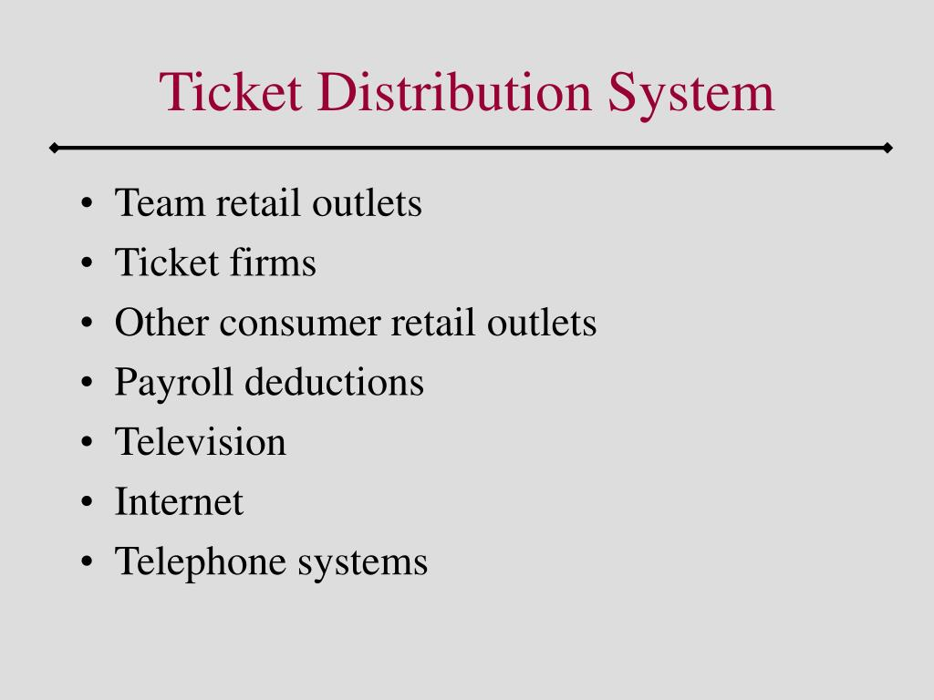 Ticket Distribution System