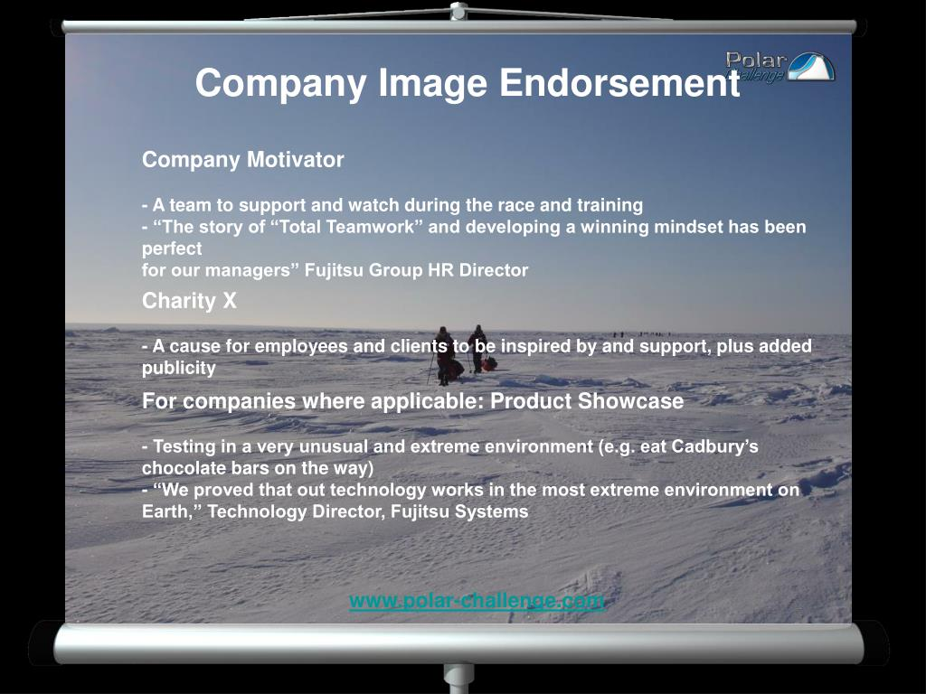 Company Image Endorsement