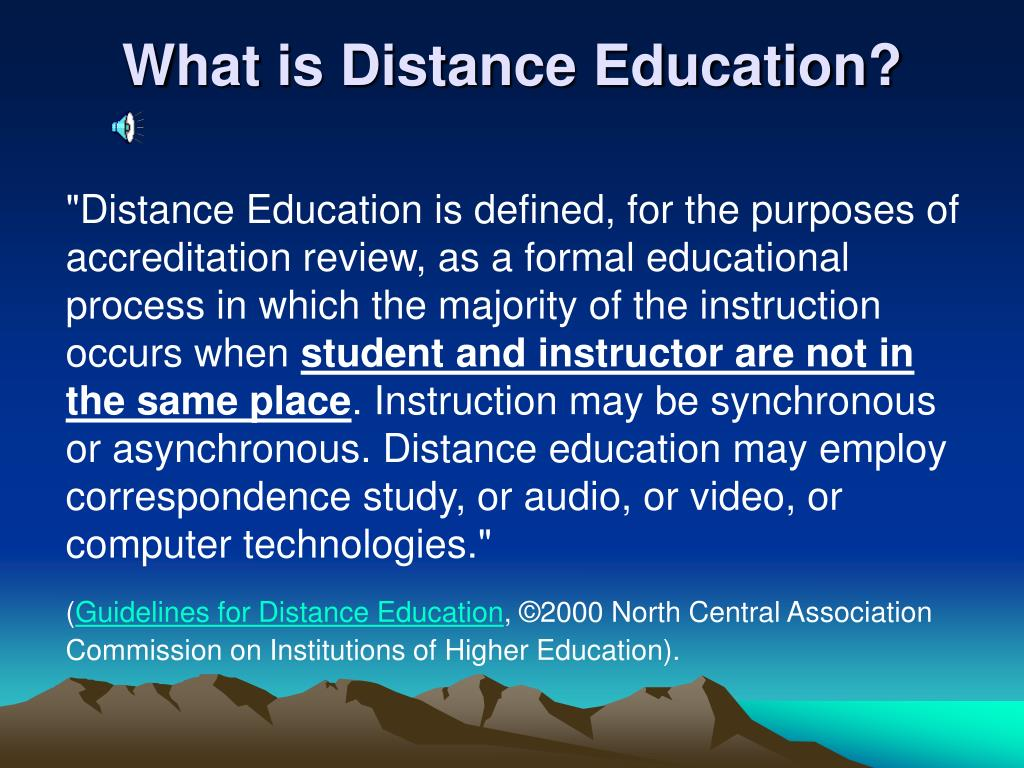 What is Distance Education?