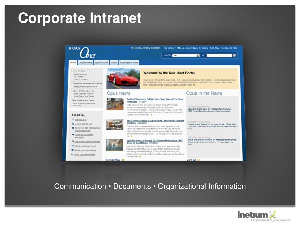 Corporate Intranet