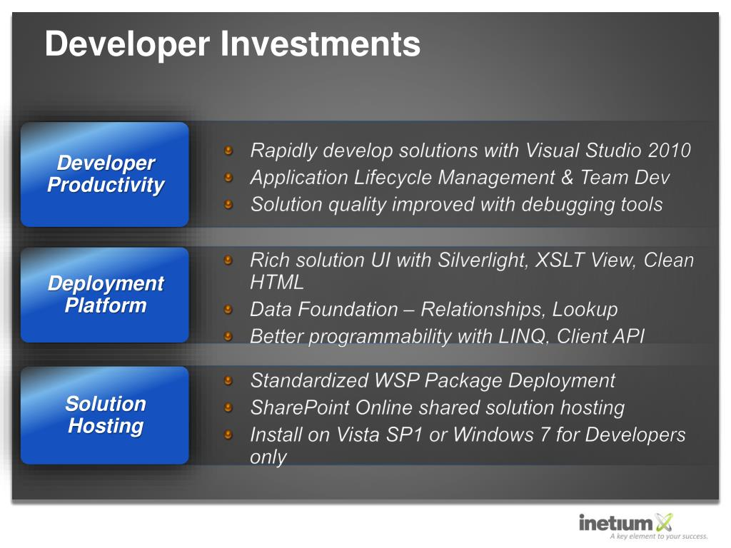 Developer Investments