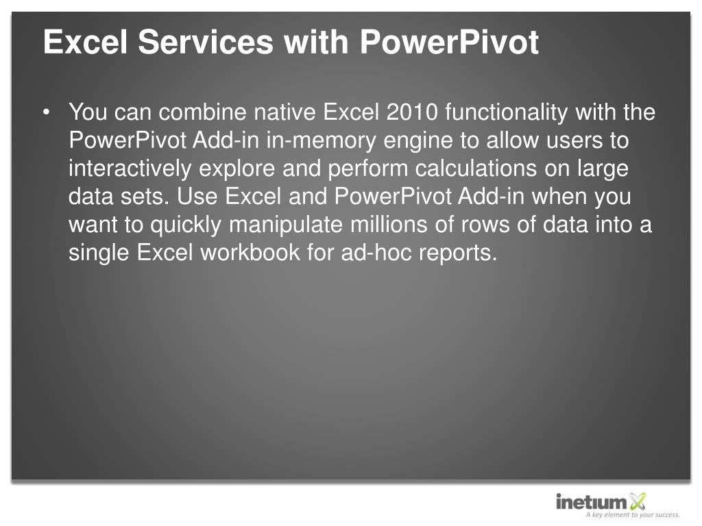 Excel Services with