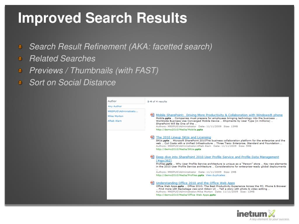 Improved Search Results