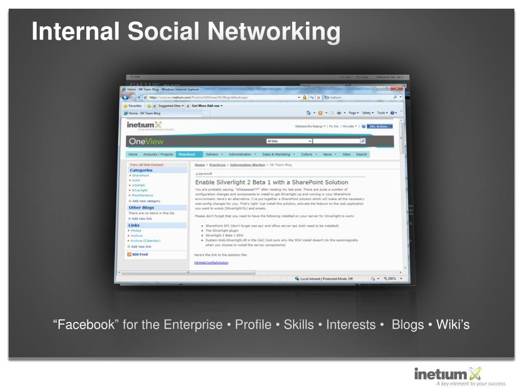 Internal Social Networking