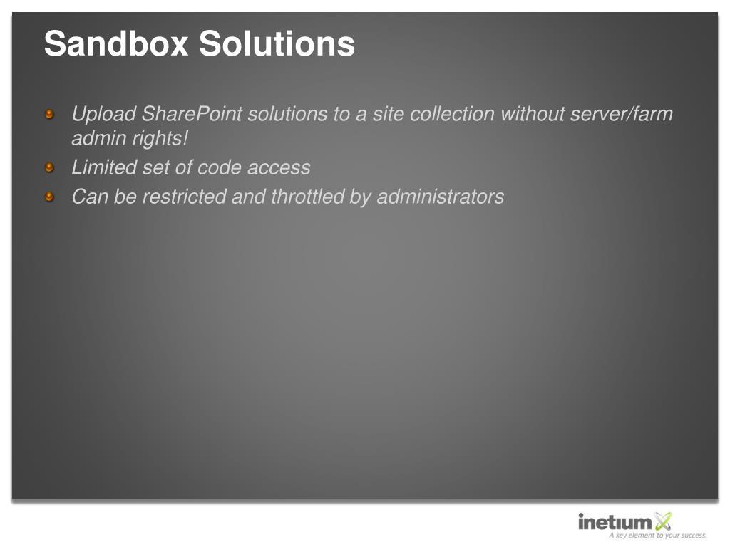 Sandbox Solutions