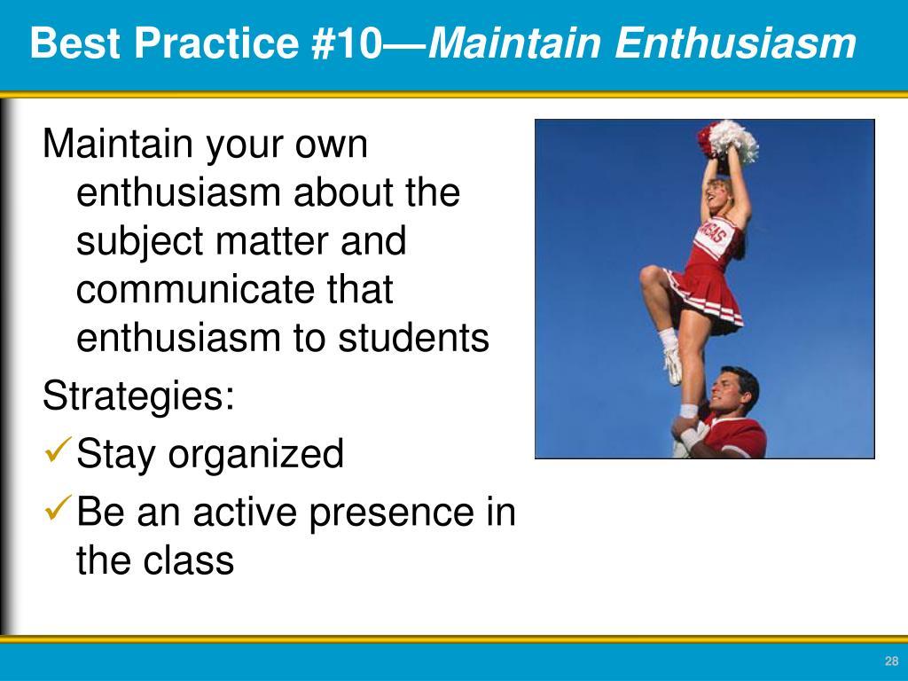 Best Practice #10