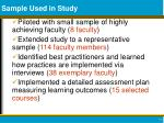 sample used in study