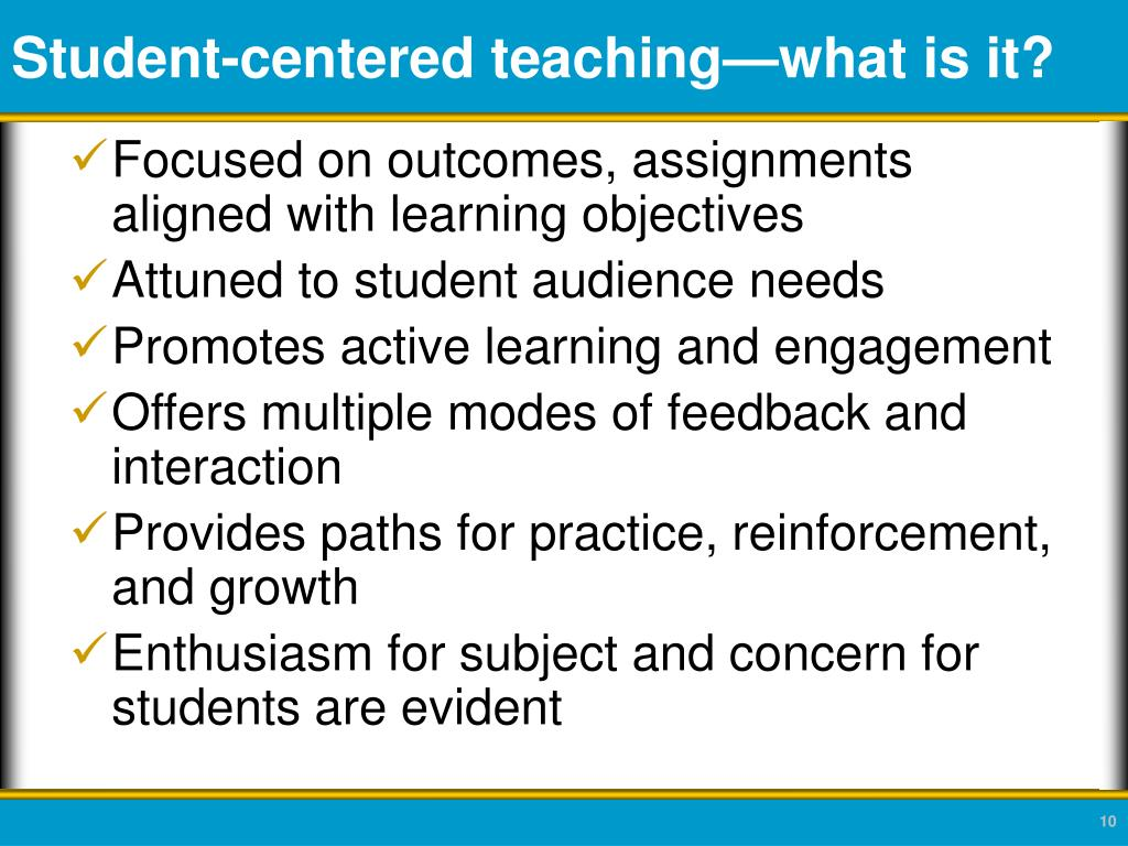Student-centered teaching—what is it?