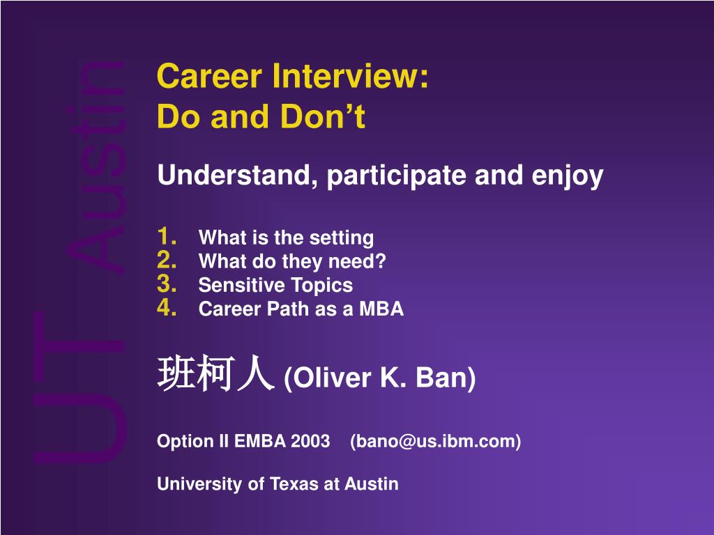 career interview do and don t