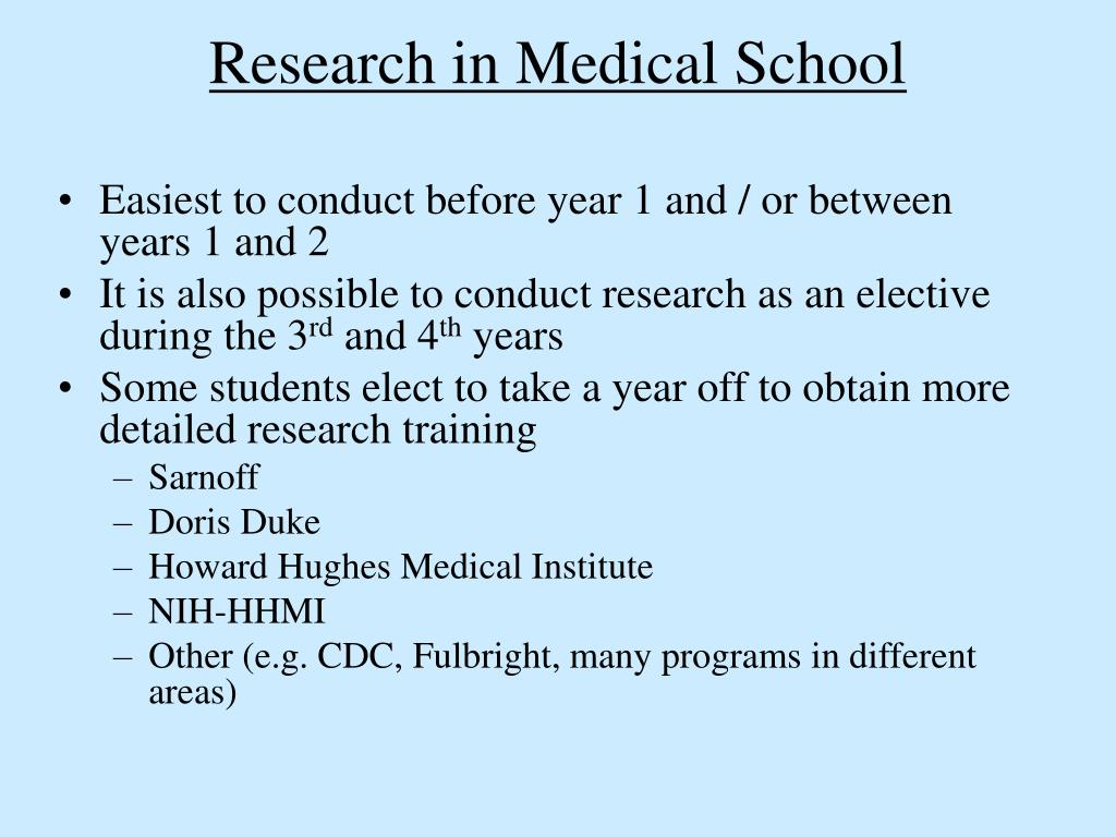 Research in Medical School
