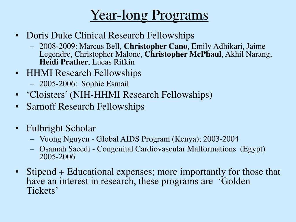 Year-long Programs