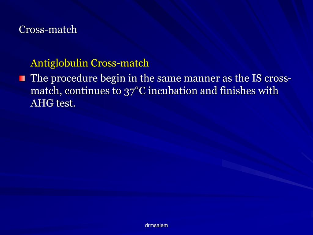 Cross-match