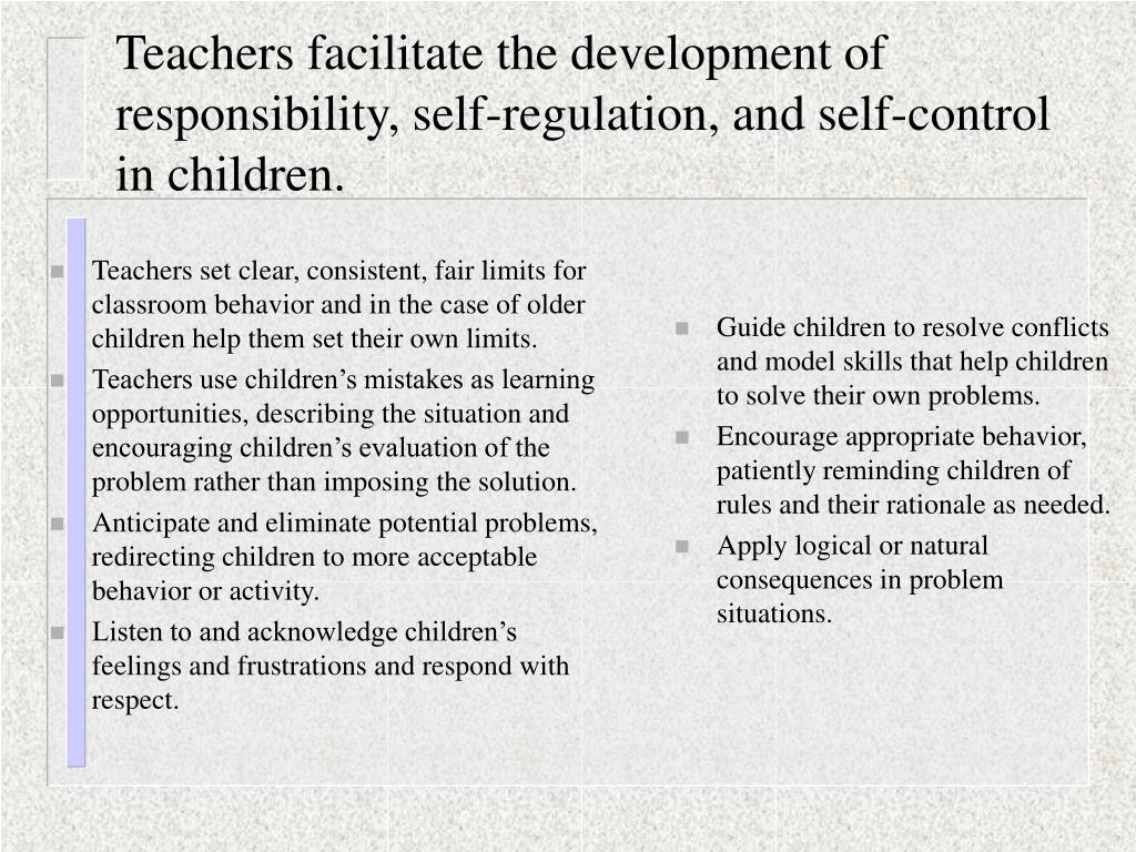 teaching respect self discipline and responsibility Part 4: self-respect the goal of student workshop respect: tance of respect and of taking responsibility for their own behavior.