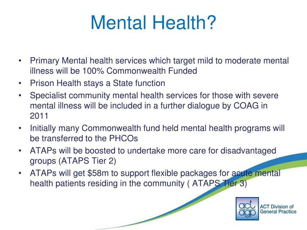 Mental Health?