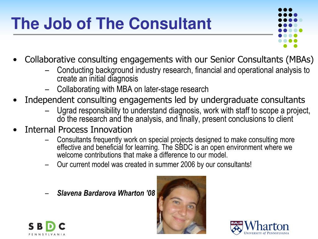 The Job of The Consultant