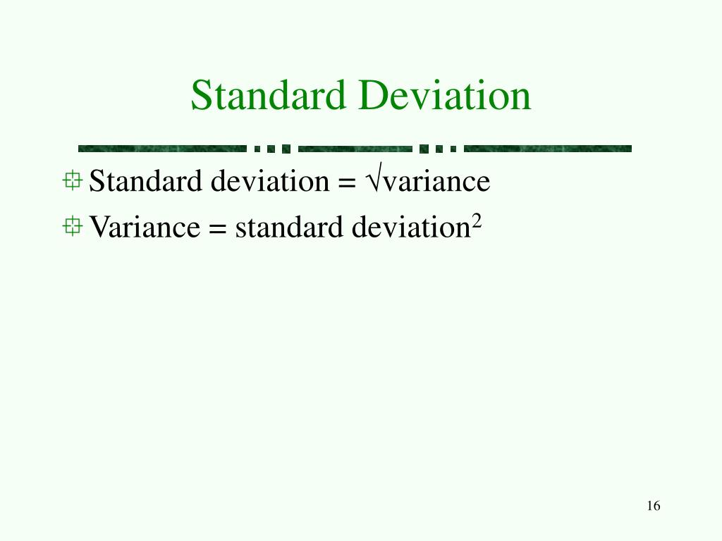 Variance = Standard Deviation2 Variance = Stan Sample Standard Deviation  Sample Standard Deviation Symbol Iscblog How To Calculate