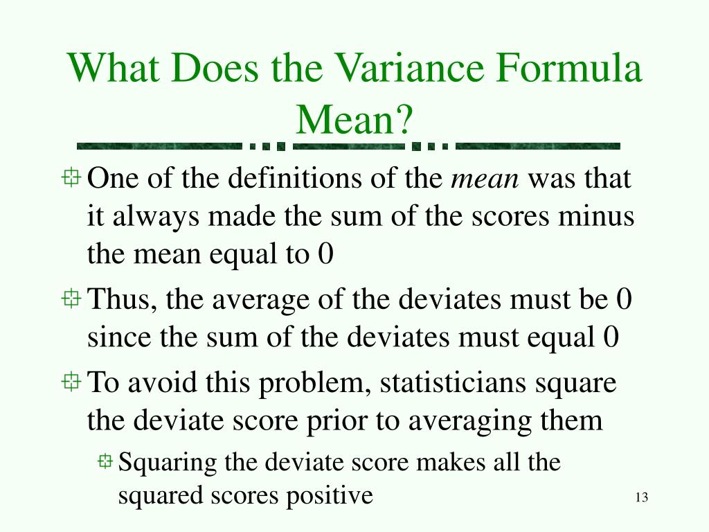 What Does Low Variance Mean