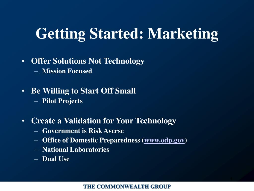 Getting Started: Marketing
