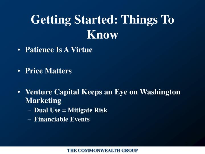 Getting started things to know l.jpg
