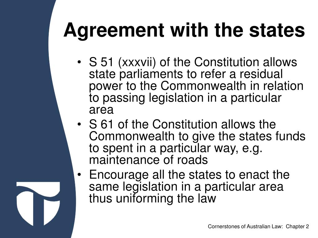 Agreement with the states