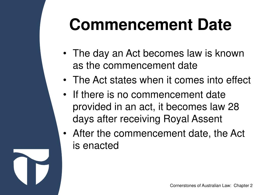Commencement Date