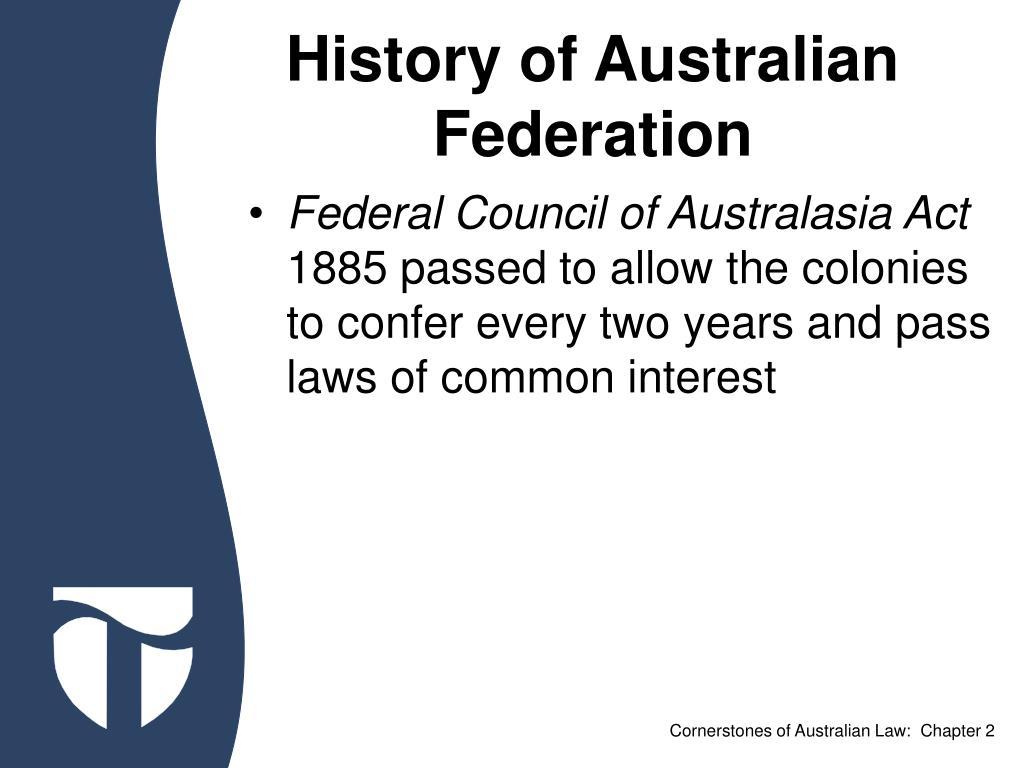 History of Australian Federation