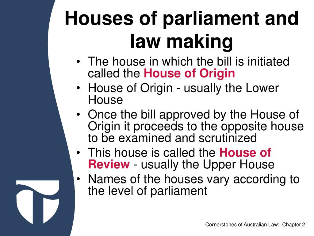 Houses of parliament and law making