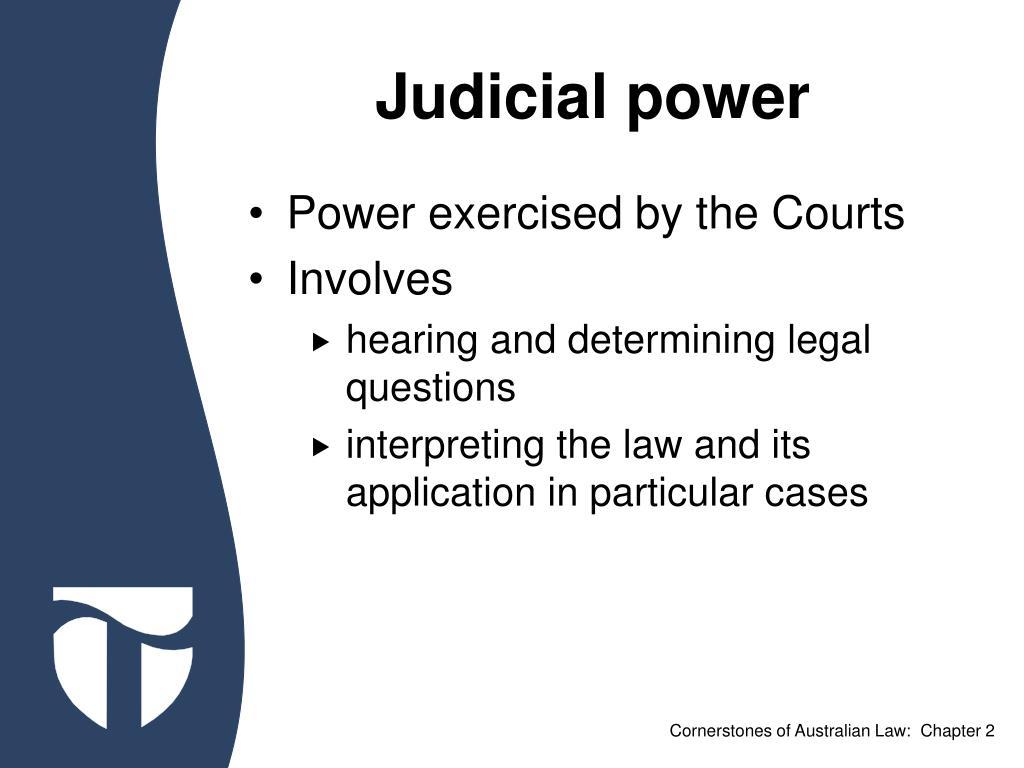 Judicial power