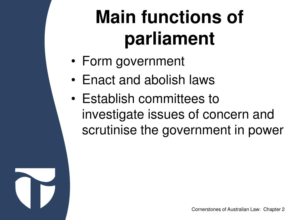 Main functions of parliament