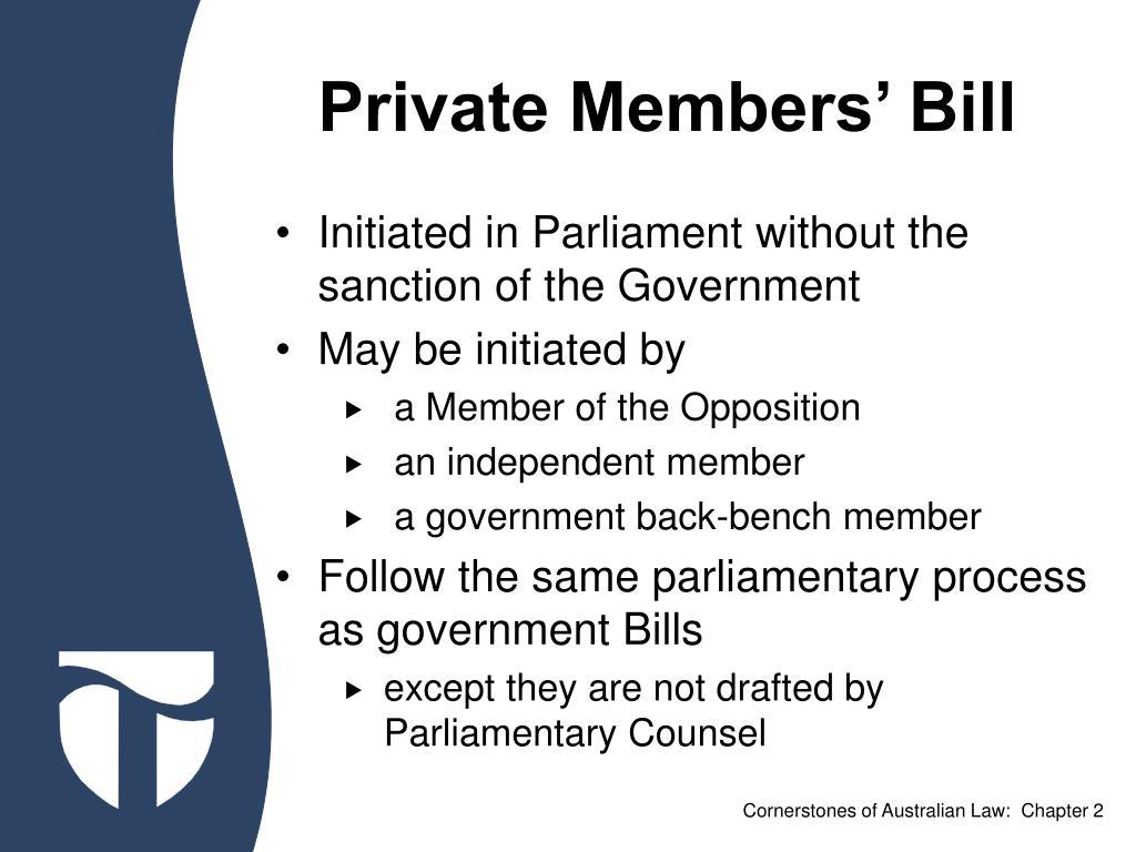Private Members' Bill