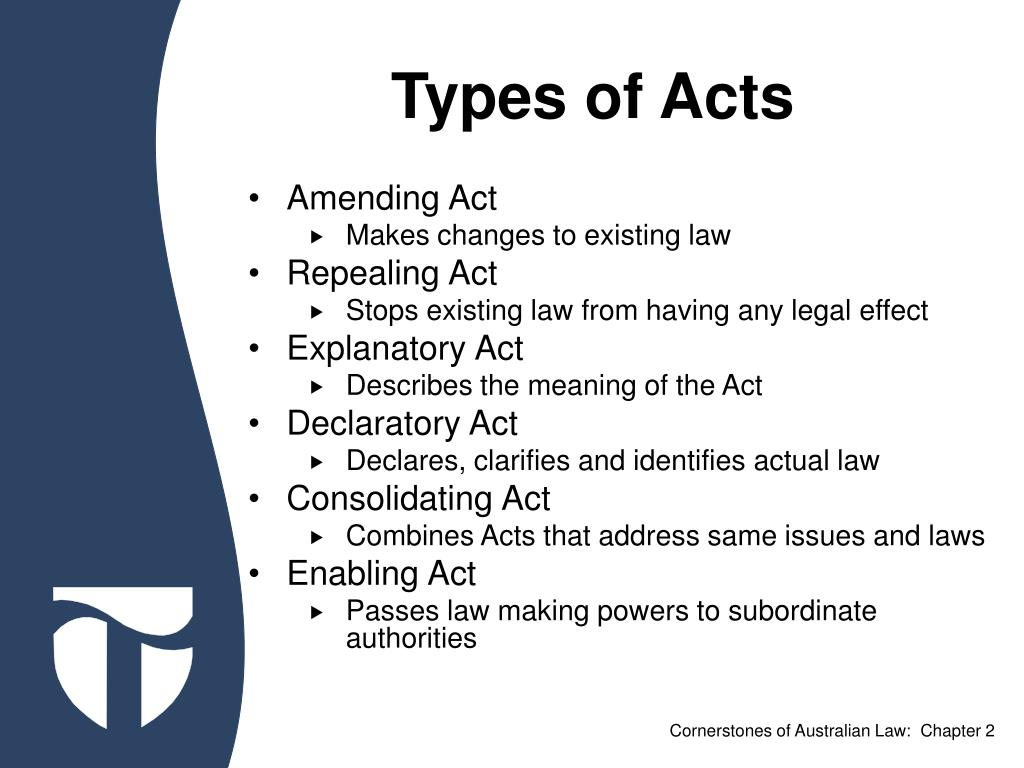 Types of Acts
