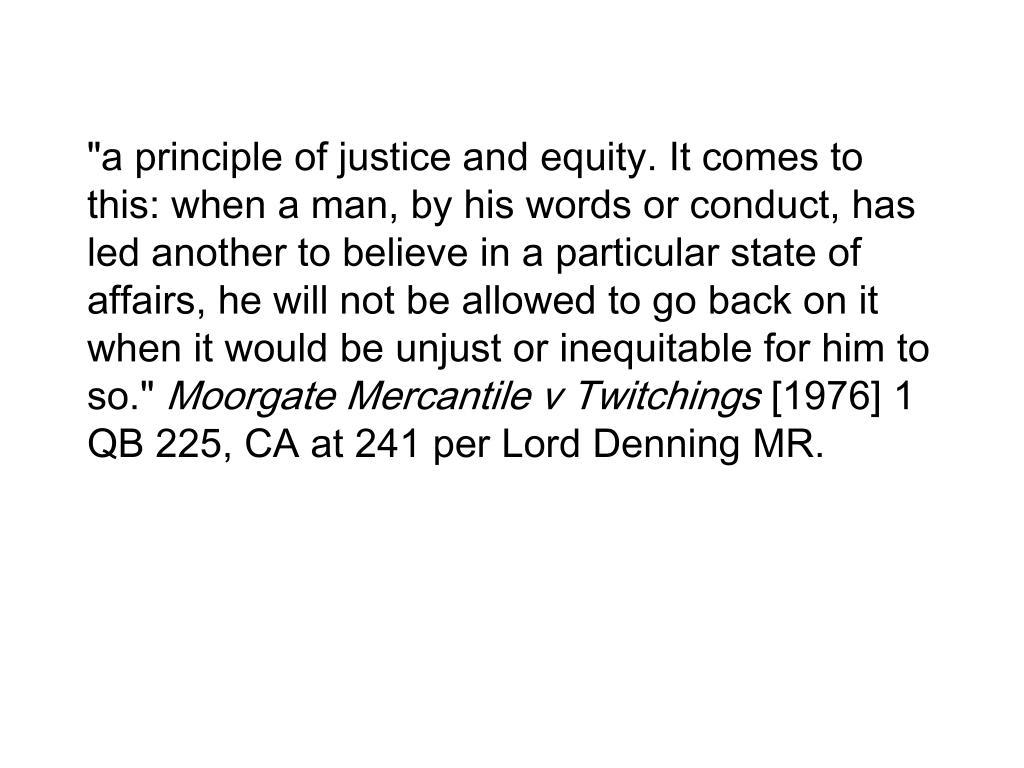 """a principle of"