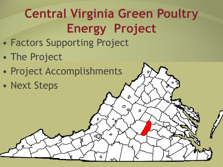 Central virginia green poultry energy project2