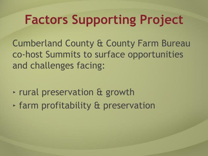 Factors supporting project