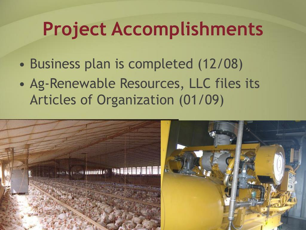 Project Accomplishments