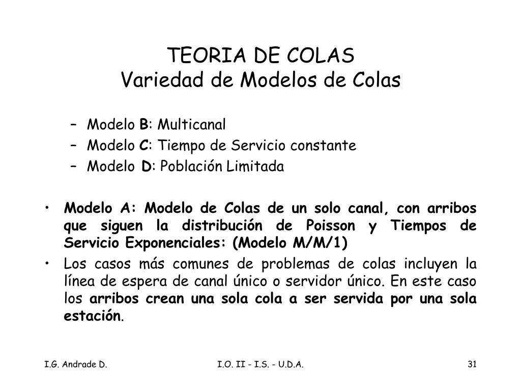 TEORIA DE COLAS