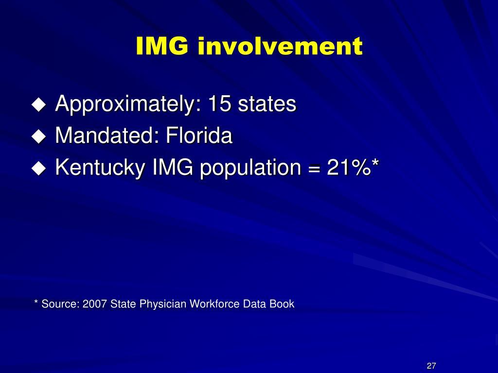 IMG involvement