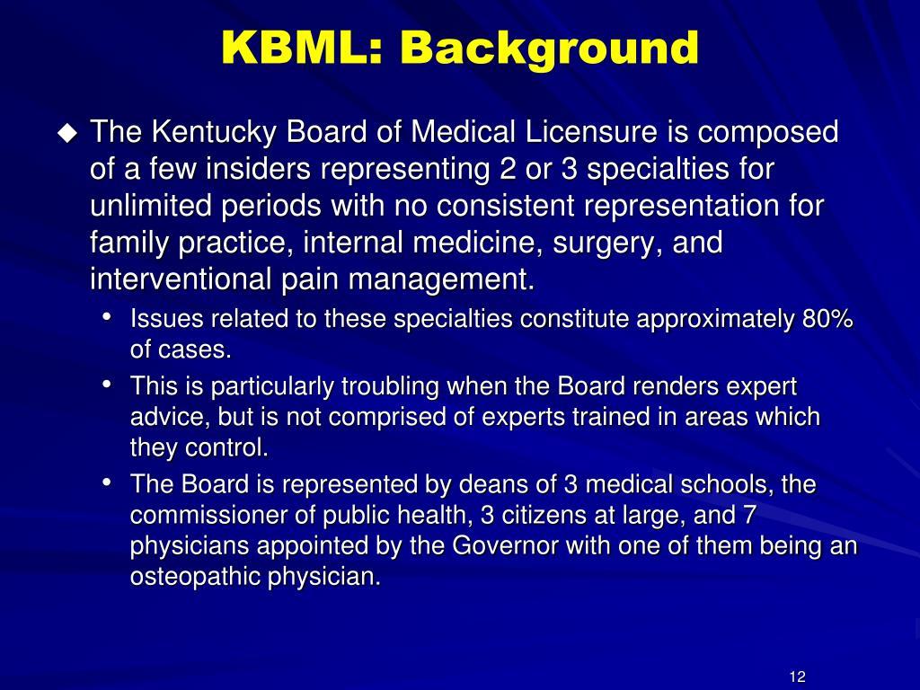 KBML: Background