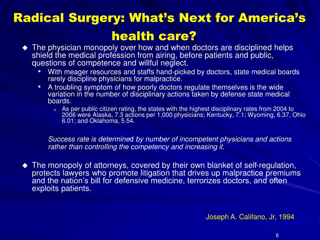 Radical Surgery: What's Next for America's health care?