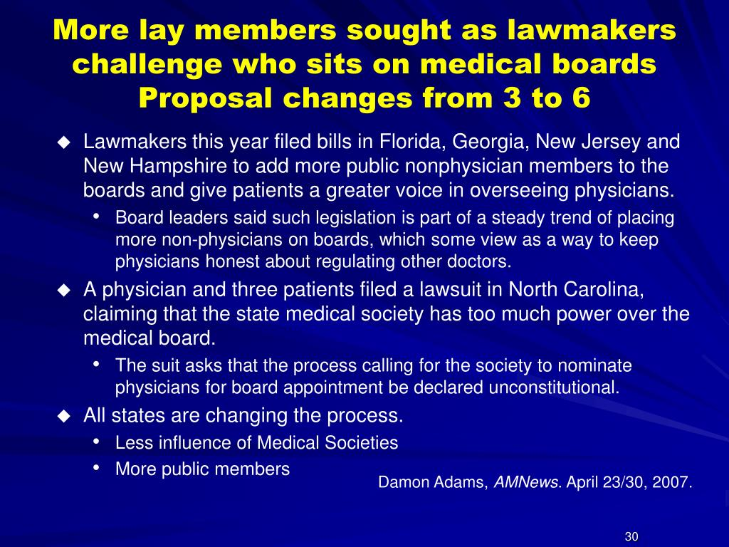 More lay members sought as lawmakers challenge who sits on medical boards