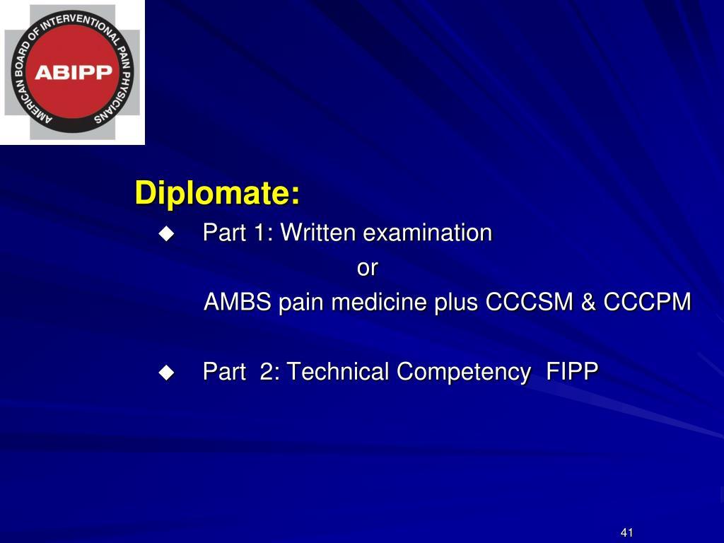 Diplomate: