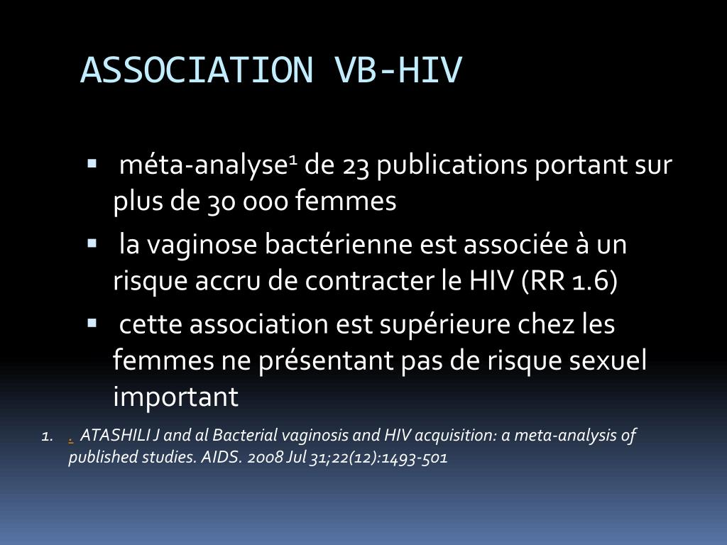 ASSOCIATION VB-HIV