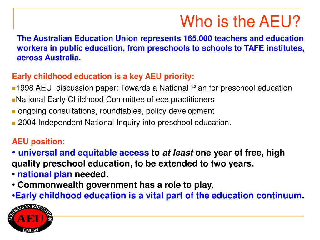 Who is the AEU?