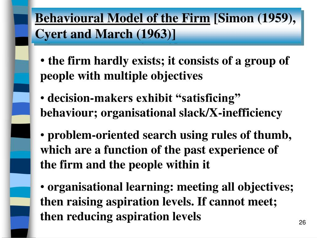 Behavioural Model of the Firm