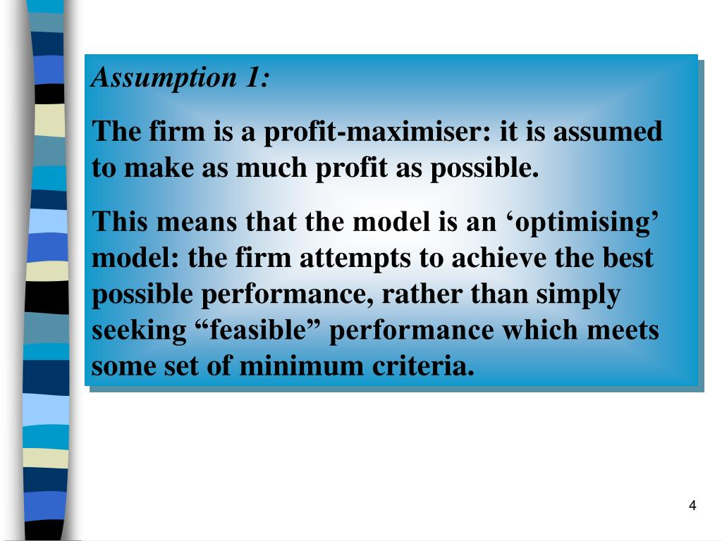 Assumption 1: