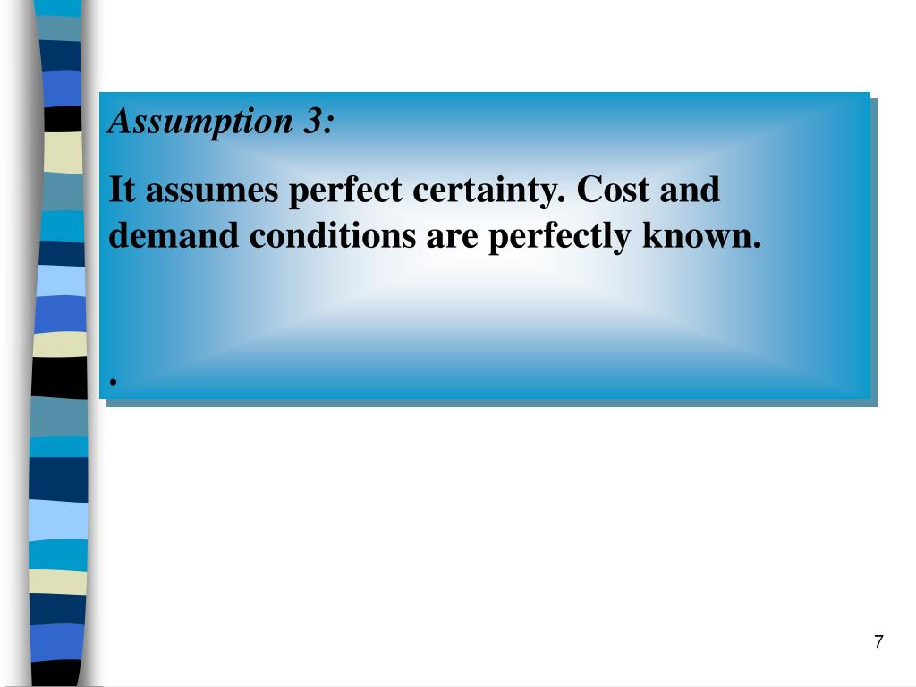 Assumption 3: