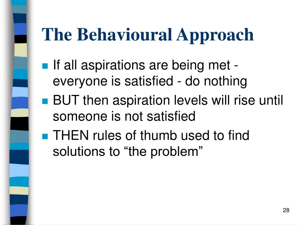 The Behavioural Approach