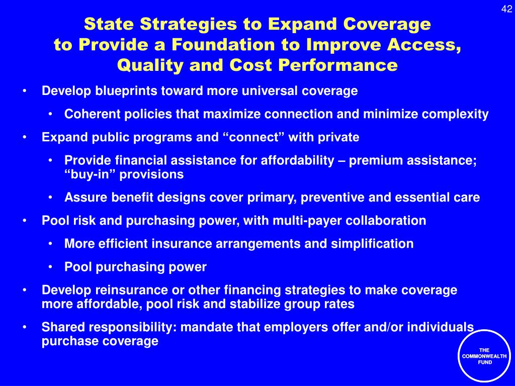 State Strategies to Expand Coverage