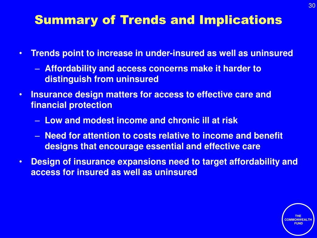 Summary of Trends and Implications
