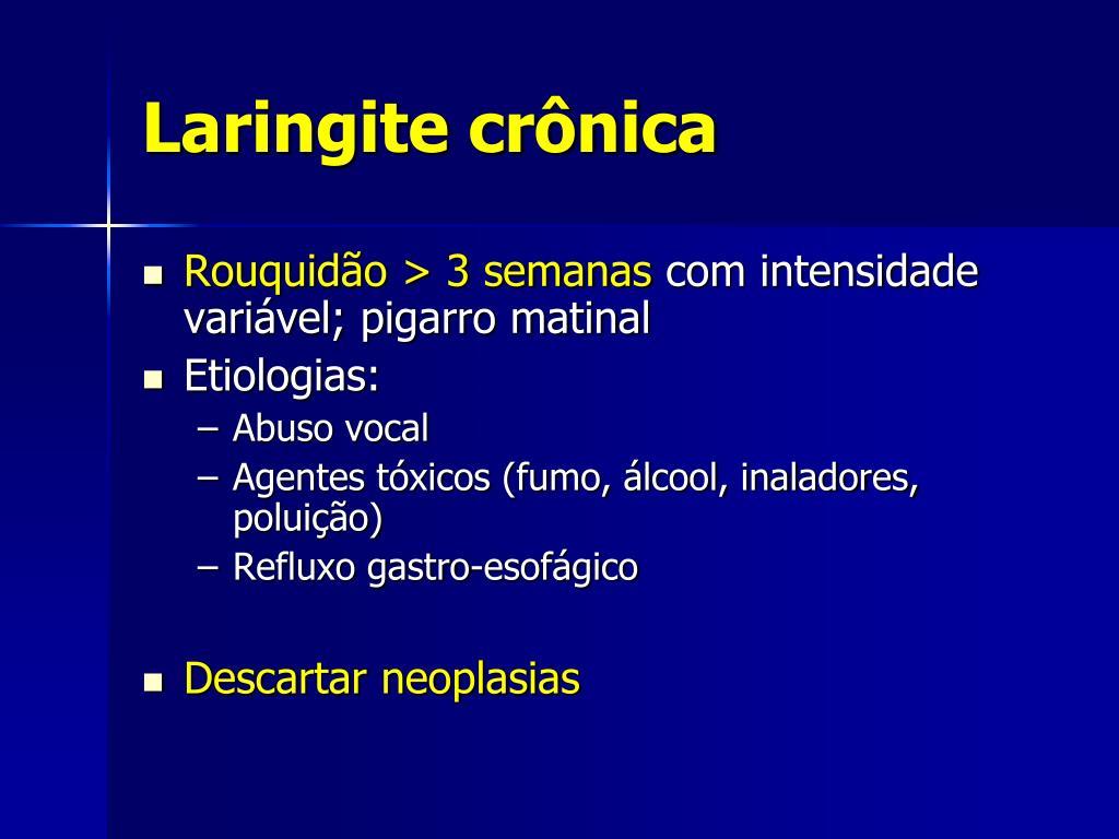 Laringite crônica